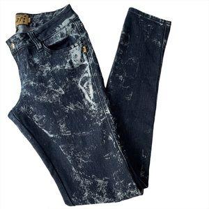 Tripp Acid Wash Skinny Jeans Blue Size 7
